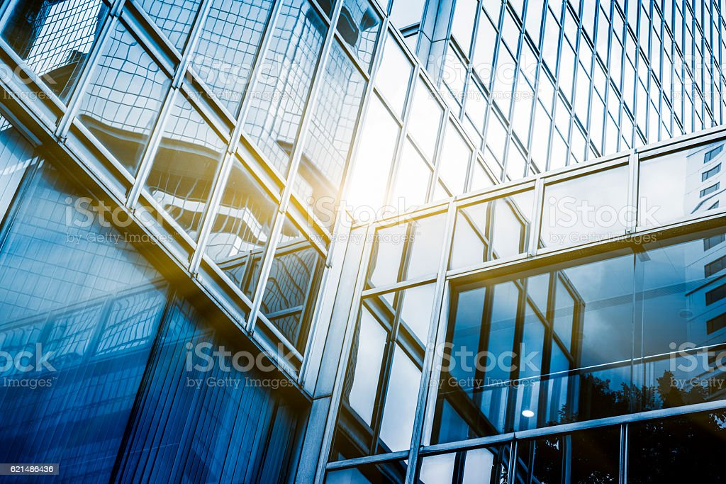 full frame of modern glass steel architecture photo libre de droits