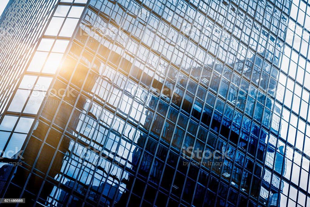 full frame of modern glass steel architecture Lizenzfreies stock-foto