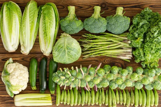 Full frame of winter vegetables market table stock photo