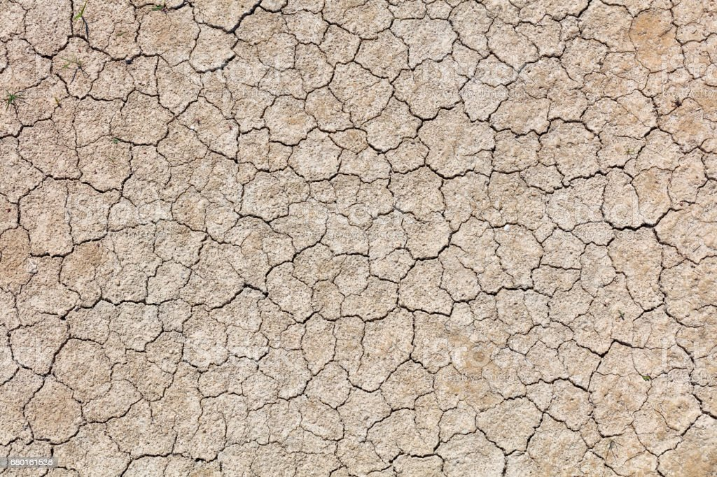 Full Frame Photo Of Cracked Earth stock photo