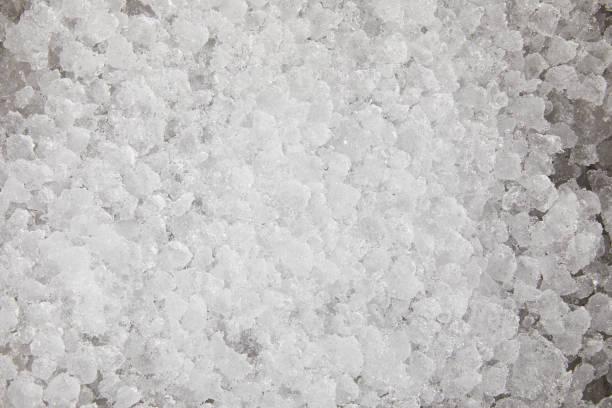 냉동 음식에 대 한 얼음의 풀 프레임 샷 - 얼음 조각 뉴스 사진 이미지