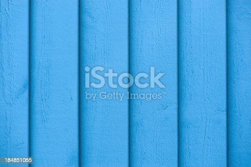 1124475954 istock photo Full frame view of blue paint on the wooden wall 184851055