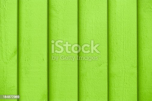 1124475954 istock photo Full frame view of green paint on the wooden wall 184872989
