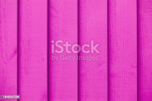 1124475954 istock photo Full frame view of pink paint on the wooden wall 184834298