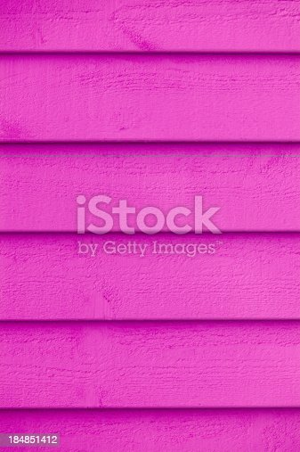 1124475954 istock photo Full frame view of pink paint on the wooden wall 184851412