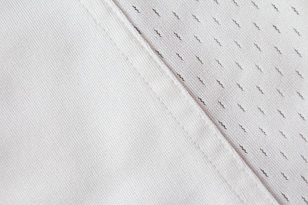 Full frame white jersey with diagonal seam