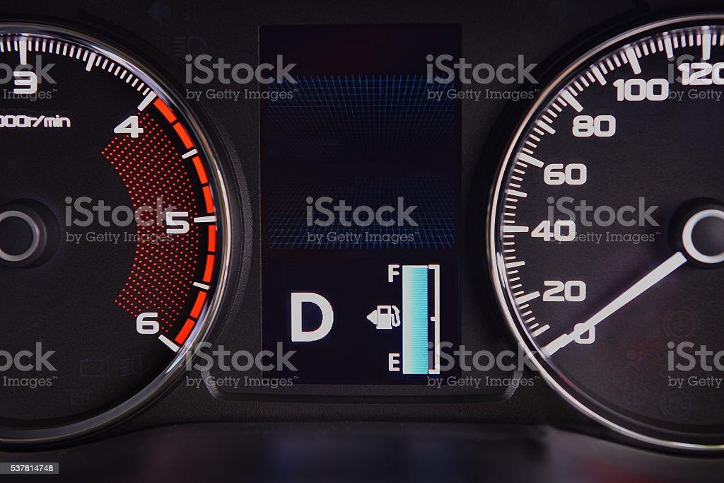 Full Fuel Symbol On Dashboard Type Digital Stock Photo More