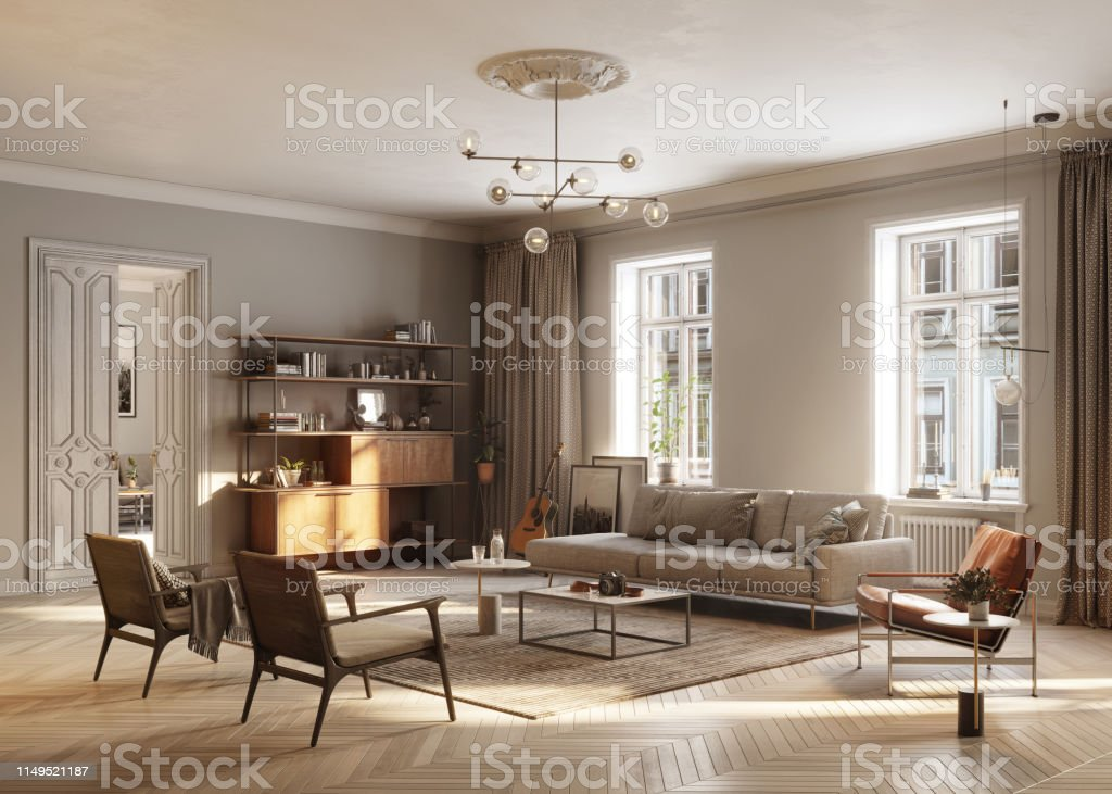 Full Furnished living Room - Royalty-free Apartment Stock Photo