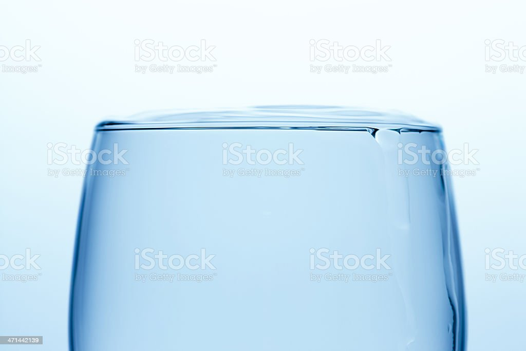 Full glass of water stock photo