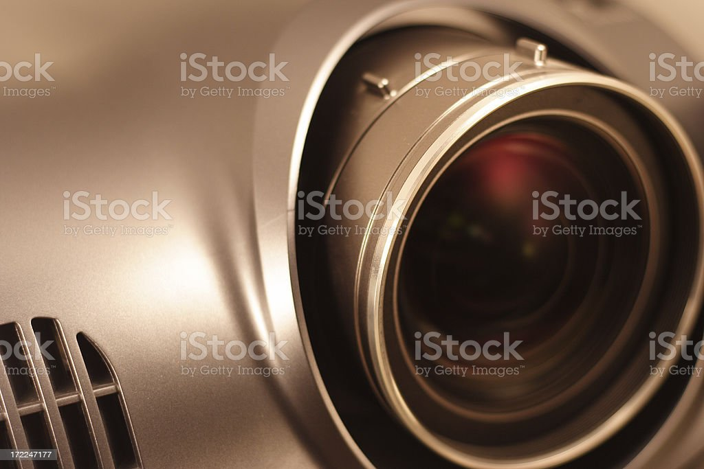 Full HD projector lens stock photo