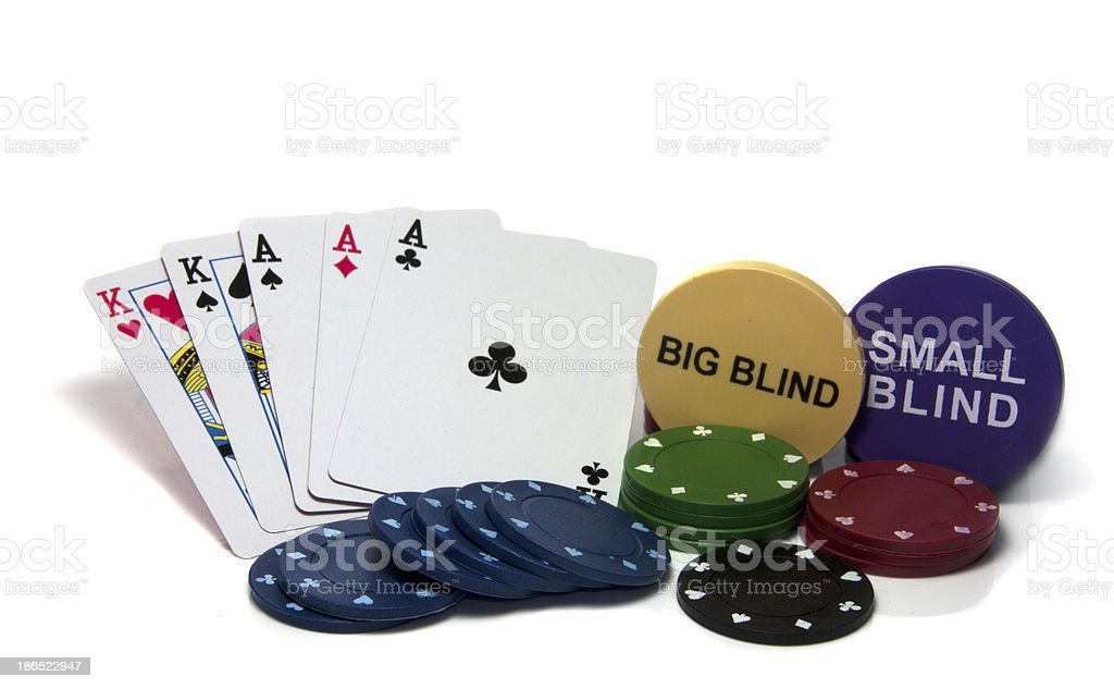 full house in poker royalty-free stock photo