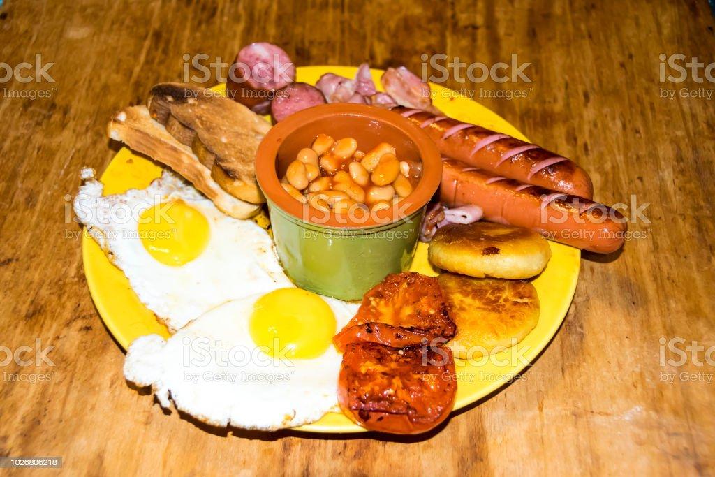 Bacon De Toast De Saucisse Petit Déjeuner Irlandais Complet Très