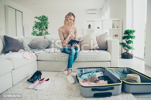 936373320 istock photo Full legs body size portrait of concentrated focused confident i 1076528754