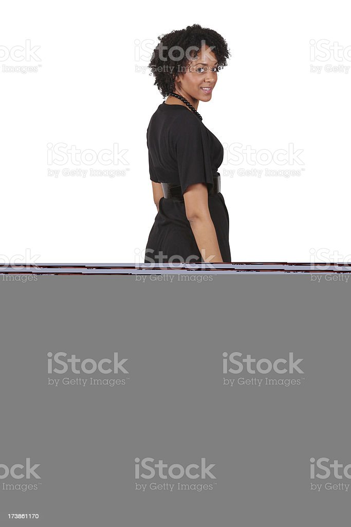 Full Length African America Beauty royalty-free stock photo