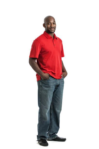 Full Length Black Man Portrait stock photo