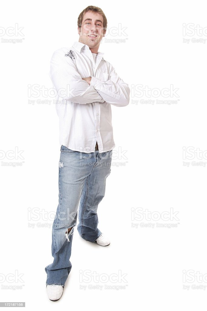 Full Length Casual Male royalty-free stock photo