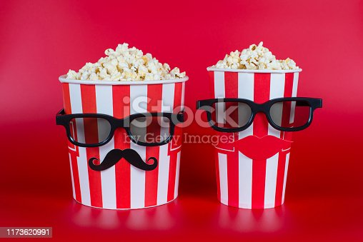 istock Full length close-up photo of looking like persons small middle big size container with nutrition wearing black vr specs having fun funny funky faces isolated vibrant background 1173620991