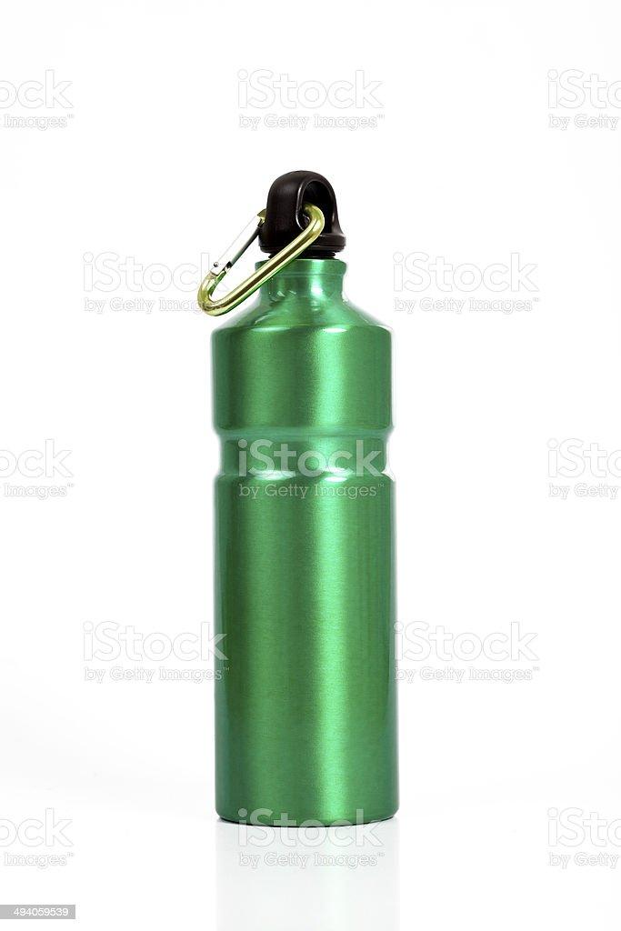 Verde waterbottle tutta la lunghezza - foto stock