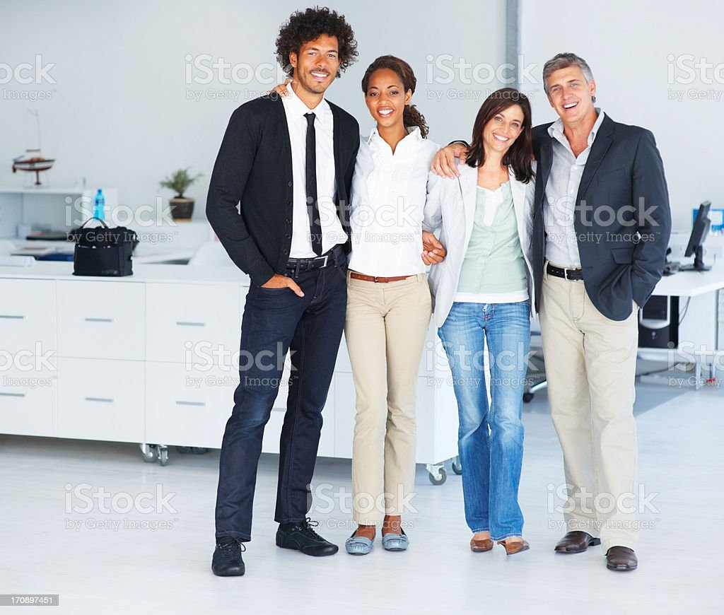 Full length image of a group of business colleagues standing together royalty-free stock photo