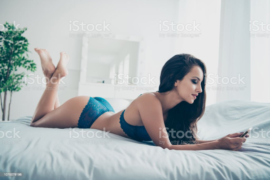 Full length legs body size portrait of beautiful lady with stock photo
