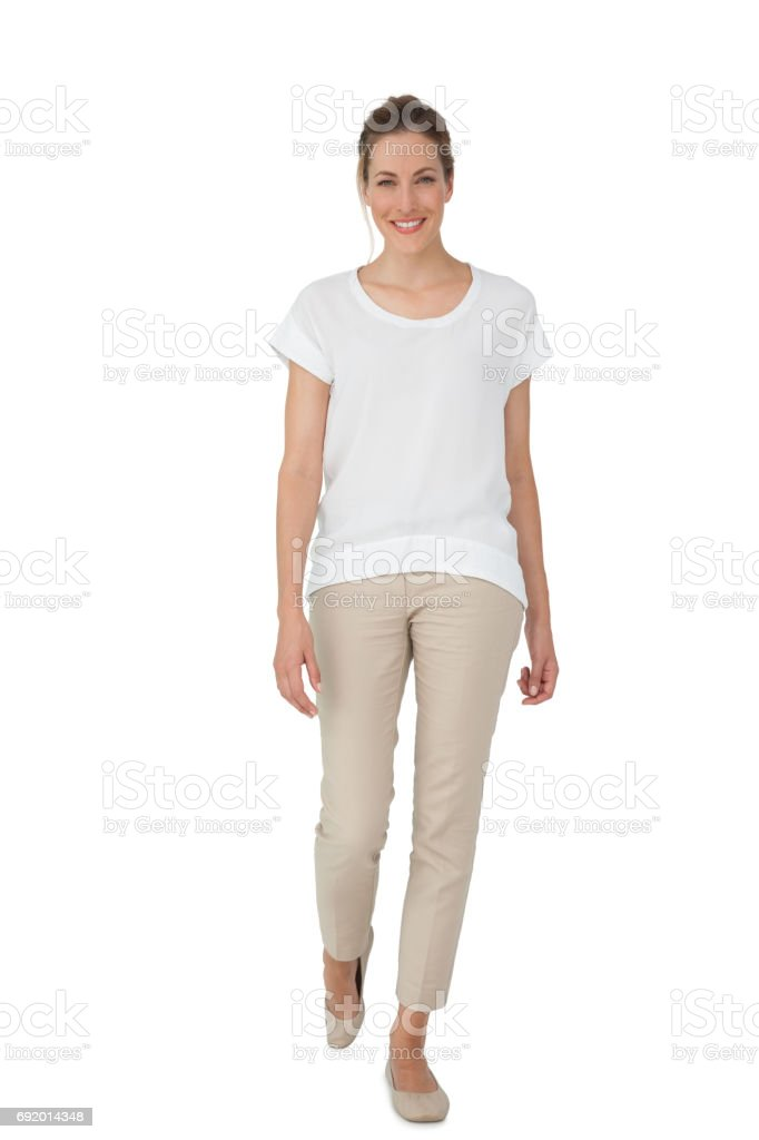 Full length of a casually dressed woman stock photo