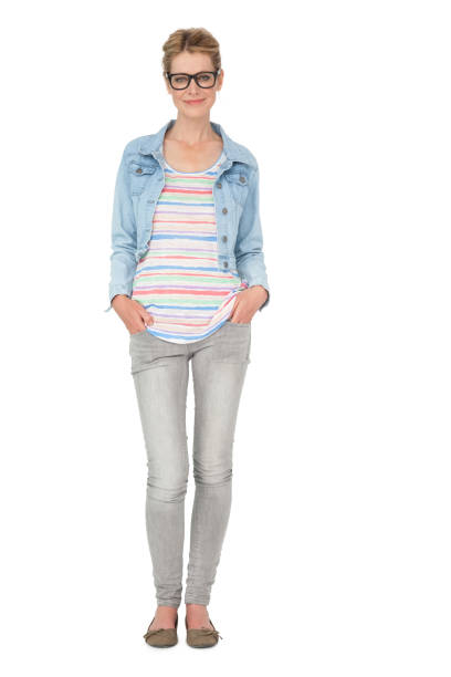 Full length of a casually dressed young woman stock photo