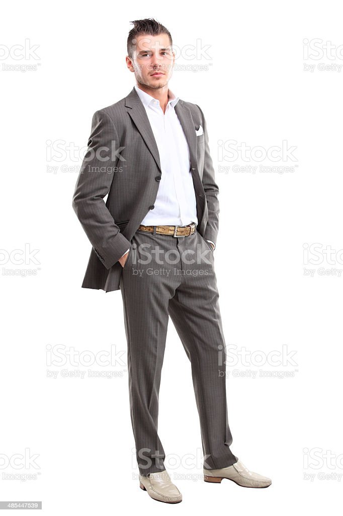 Full length of a handsome business man standing stock photo