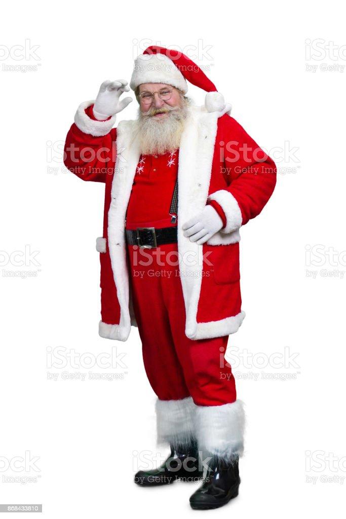 Longitud total de mayores de Santa Claus. - foto de stock
