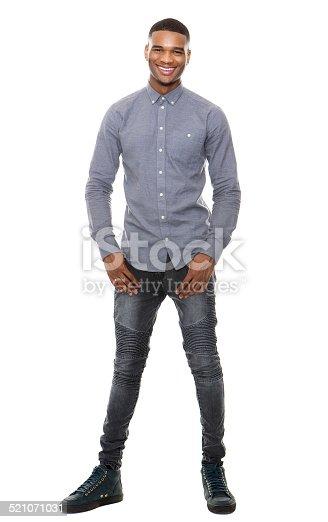 istock Full length portrait of a cool black guy smiling 521071031
