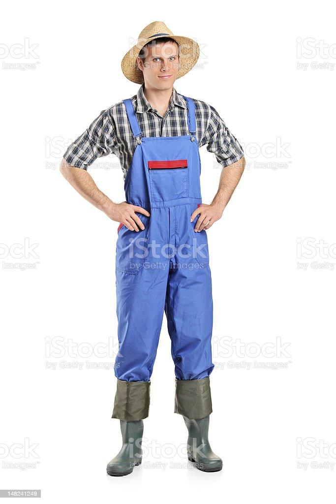 Full length portrait of a farmer royalty-free stock photo