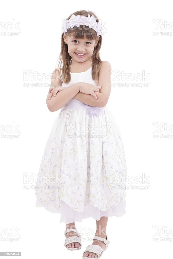Full length portrait of a little girl royalty-free stock photo