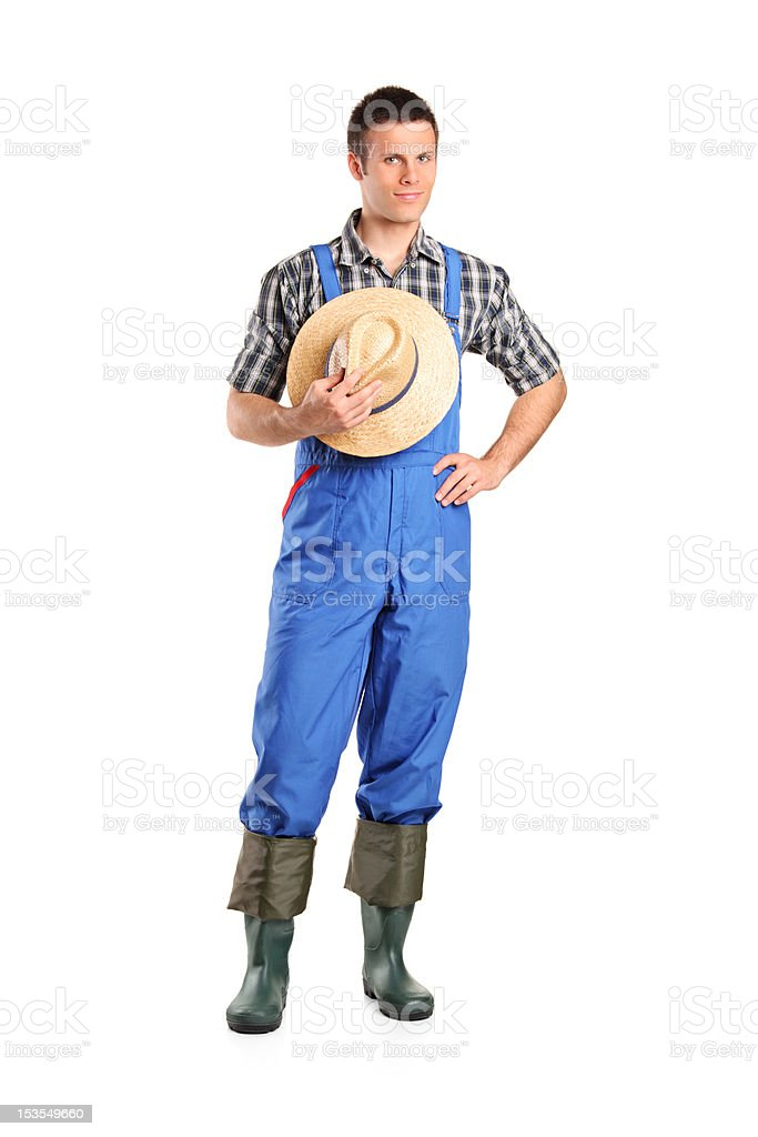 Full length portrait of a male farmer posing royalty-free stock photo