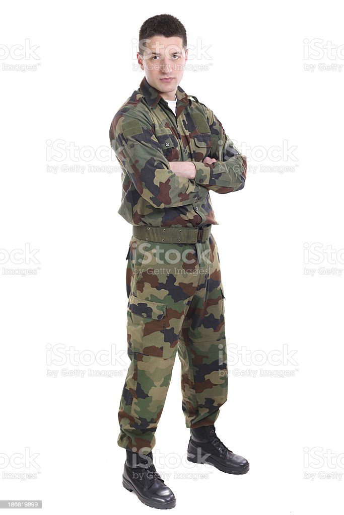 Full length portrait of a soldier royalty-free stock photo