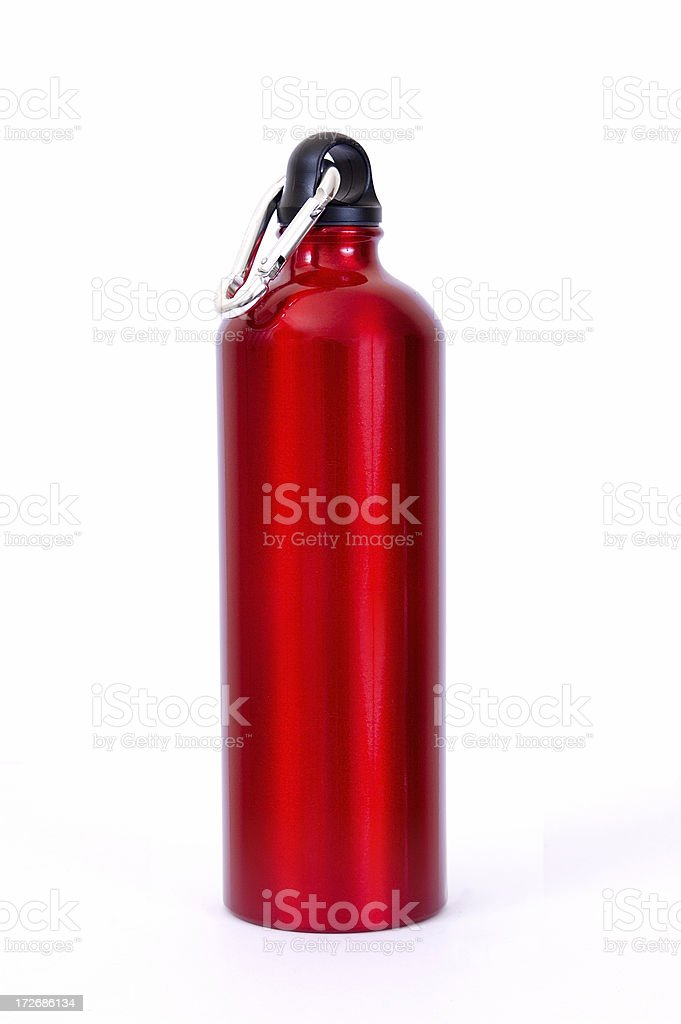 Full length red waterbottle royalty-free stock photo