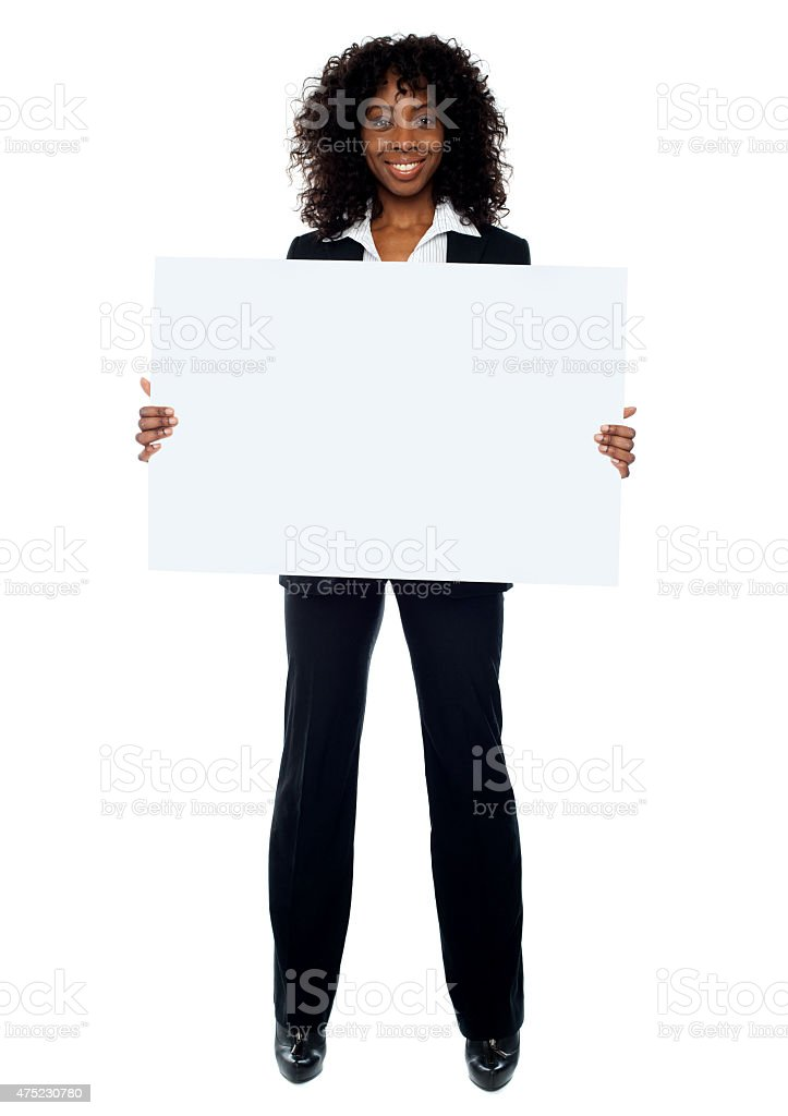 Full length shot of african business lady stock photo