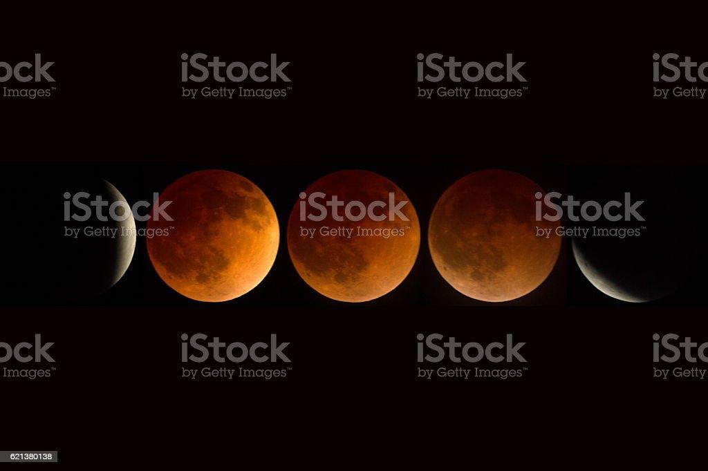 Full lunar eclipse stock photo