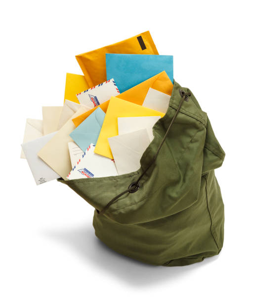 full mail bag - mail stock photos and pictures