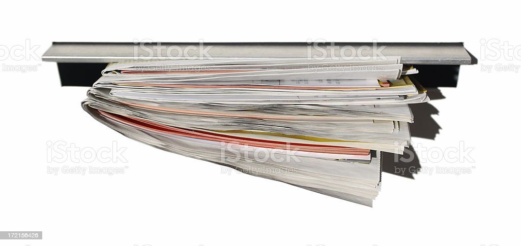Royalty Free Mailbox Mail Slot Full Newspaper Pictures Images and