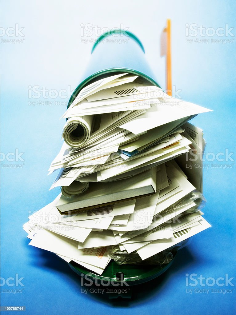 full mailbox. Full Mailbox Royalty-free Stock Photo
