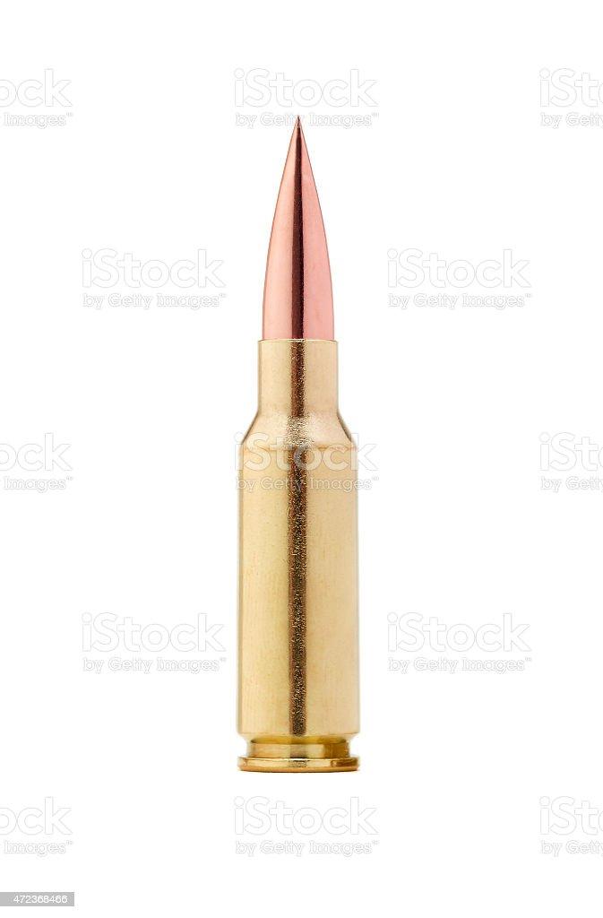 Full metal jacket cartridge from AK47 stock photo