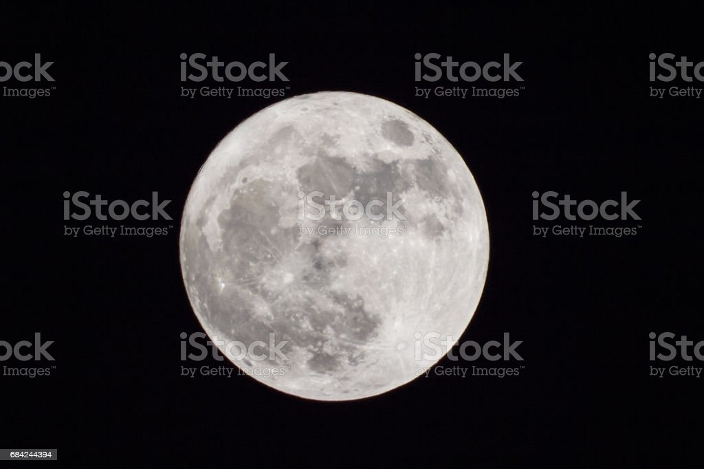 Full moon at largest also called supermoon royalty-free stock photo