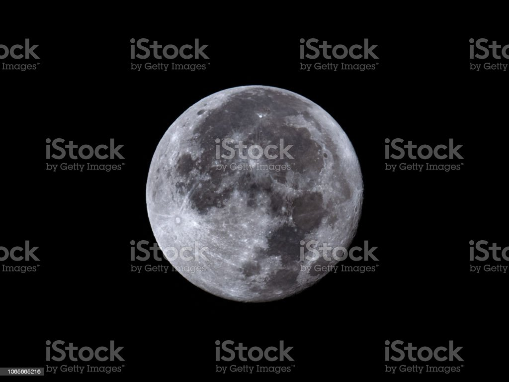 Full Moon August 27, 2018 stock photo