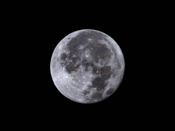 Full Moon August 27, 2018 stock photo