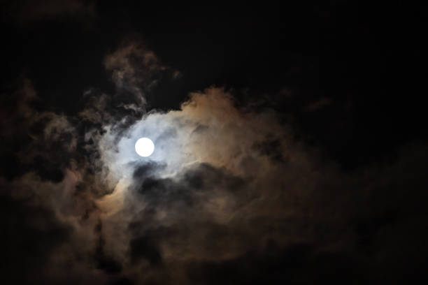Vollmond Hinter Wolken – Foto