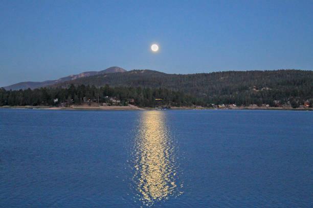 Full Moon Big Bear stock photo
