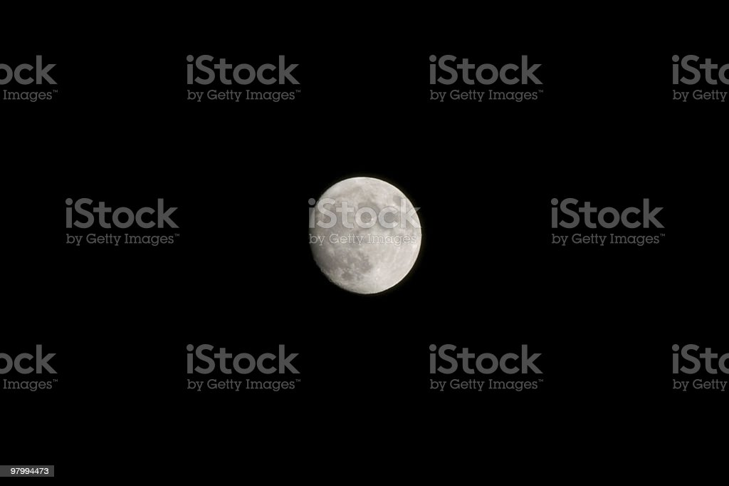 Full moon, black sky, copy space royalty-free stock photo