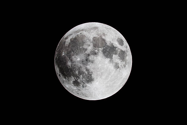 full moon close up - moon stockfoto's en -beelden