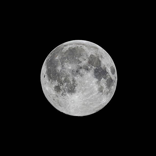 Full moon, high contrast stock photo