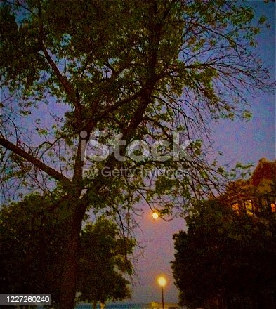 852738732 istock photo A Full Moon in Chicago 1227260240