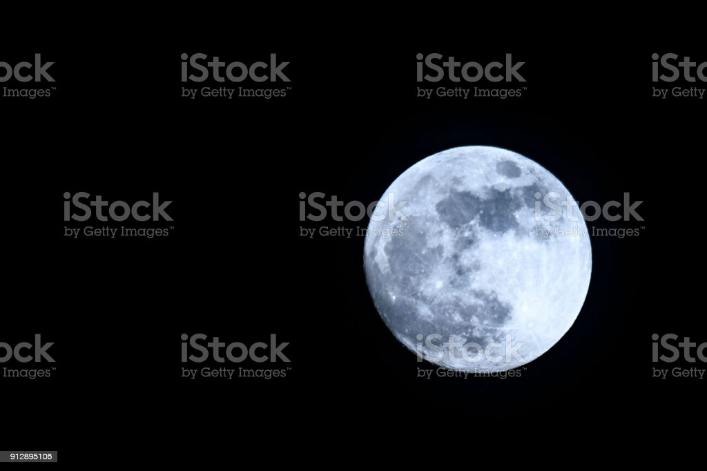 Full moon in the dark night sky - foto stock